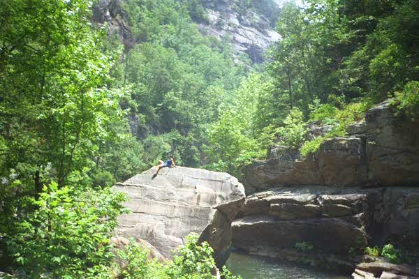 [View of Tallulah Gorge, July, 1998]